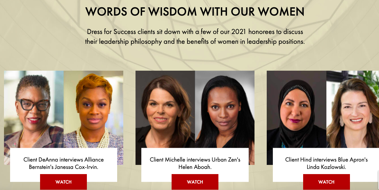 This fashion line partnered with Dress of Success to raise money to open more career opportunities for women.