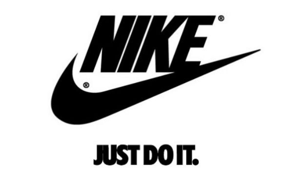 Nike's most recognizable brand assets — swoosh and tagline — relate back to the company's mission and values.