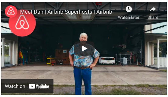 AirBnB uses stories from their community to illustrate their global mission.