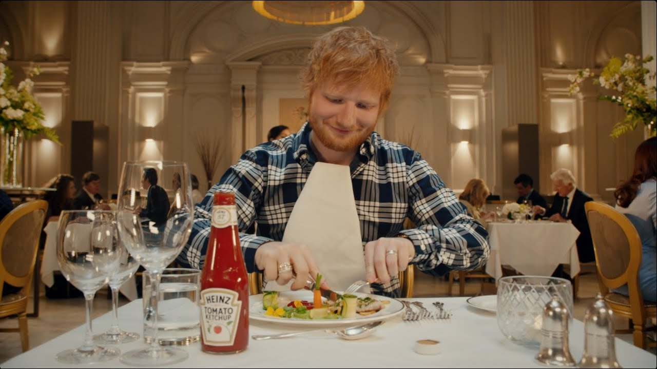 Heinz partnered with Ed Sheeran to pitch their condiment products outside the US.