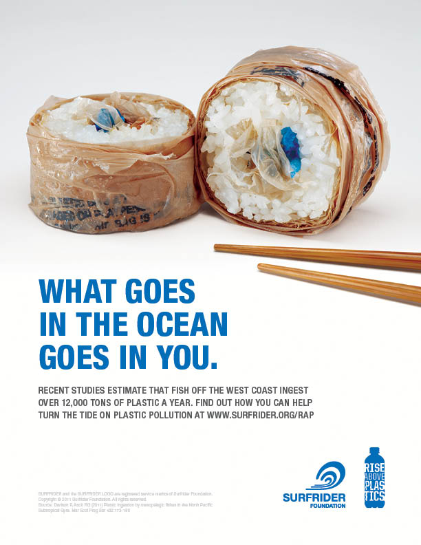 The Surfrider Foundation used data and clever imagery to illustrate the severity of plastic pollution in world's oceans.